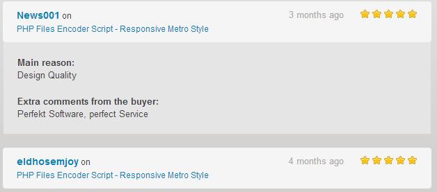 PHP Files Encoder Script - Responsive Metro Style  - 2